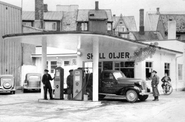 Troms fylke Tromsø Shell-stasjonen 1940-tallet