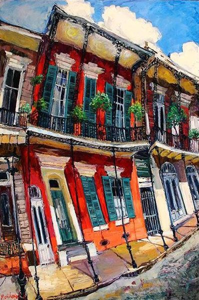 painting 20 yrs ago this artist was just a street painter in N'awlins....hubby offered to by me a painting for 400.00 .....what I fool I was for thinking it was to much....FOOL !
