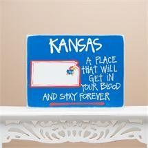 Kansas Map Sign Textual Art