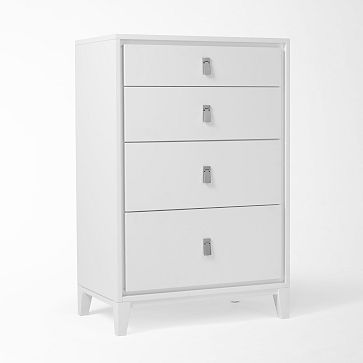 Niche 4-Drawer Dresser - White
