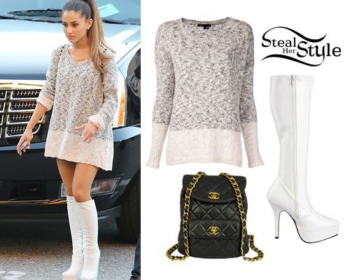 Ariana Grande- Steal Her Style | Ariana Grande outside of the 2014 iHeart Radio Awards, May 1st, 2014