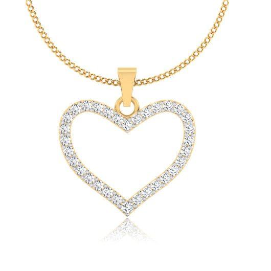 The Prajala Diamond Pendant P-0014YG