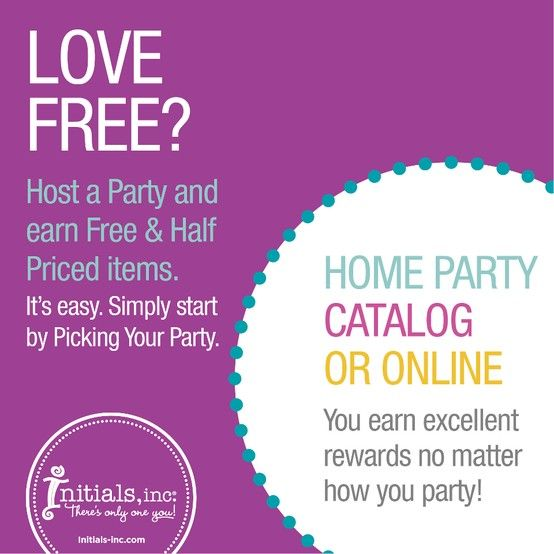 Host a party with me to get tons of FREE! Home, catalog, office and NOW facebook parties! We can even meet at a restaurant or coffee shop and your just invite a few friends and then walk away some goodies! Contact me today!