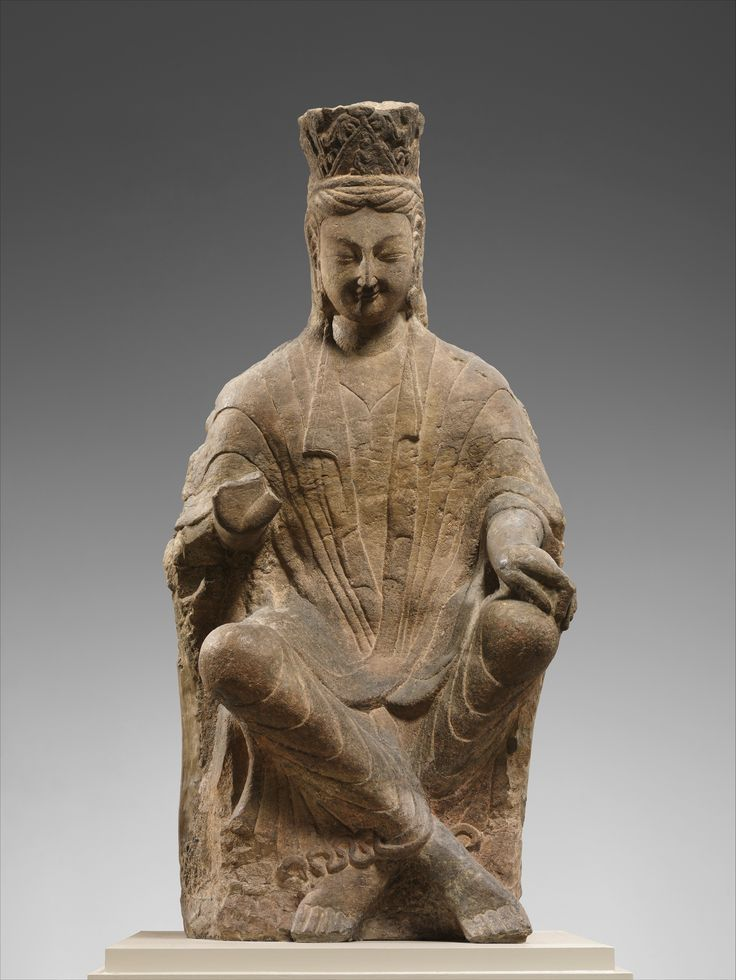 Bodhisattva, probably Avalokiteshvara (Guanyin) with Crossed Ankles. Period: Northern Wei dynasty (386–534). Date: ca. 470–80. Culture: China.