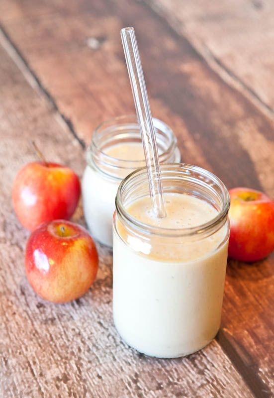 Spiced Apple Pie Smoothie: 1 1/2 cups apple juice 1 cup yogurt 1/4 cup nut milk 1 medium ripe banana (previously frozen is ideal but not required) 1 teaspoon cinnamon 1/2 teaspoon vanilla extract optional sweetener (agave, stevia, maple syrup) 2 cups ice, optional Yummy! Will help you if your craving apple pie. ⭐️⭐️⭐️⭐️⭐️