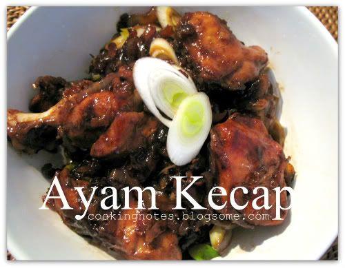 Ayam Kecap (Indonesian Food)