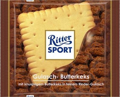 RITTER SPORT Fake Schokolade Gulasch-Butterkeks