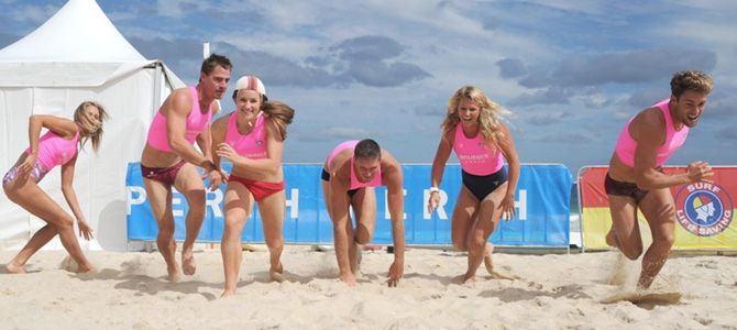 Surf Life Saving's top athletes in media session today at The Aussies 2014, Scarborough Beach, ...