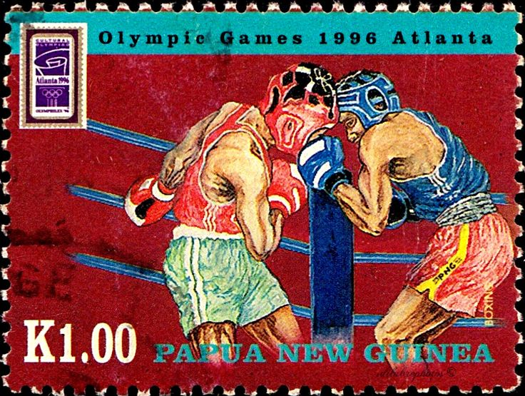 Papua New Guinea. 1996 Summer Olympics, Atlanta.  BOXING. Scott 901 A205, Issued 1996 June 24, Litho., Perf. 12,  K1./ldb.