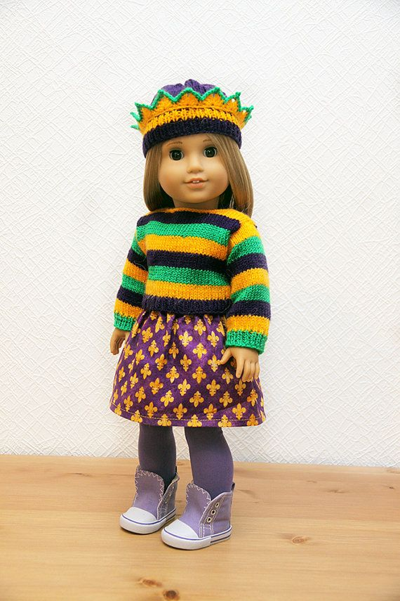 Mardi Gras outfit for American Girl 2 by StassyDodge on Etsy, $30.00