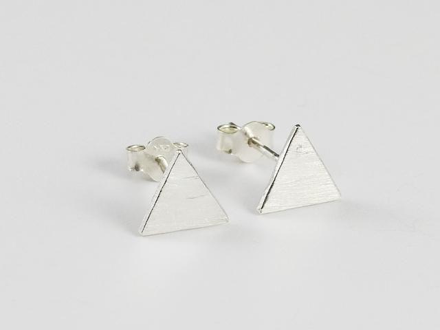 Everyday earrings, stud earrings, Små triangel studs