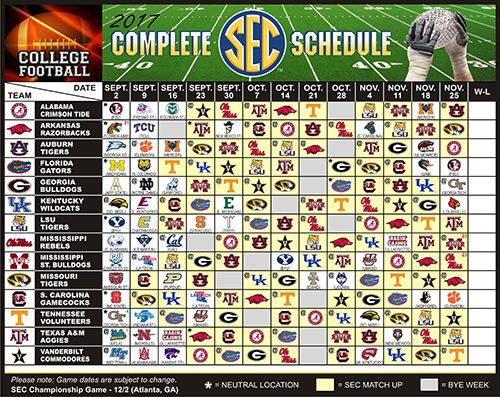 LARGE 2017 Ole Miss Rebels, Mississippi State Bulldogs Football Schedule Magnet #Magnet