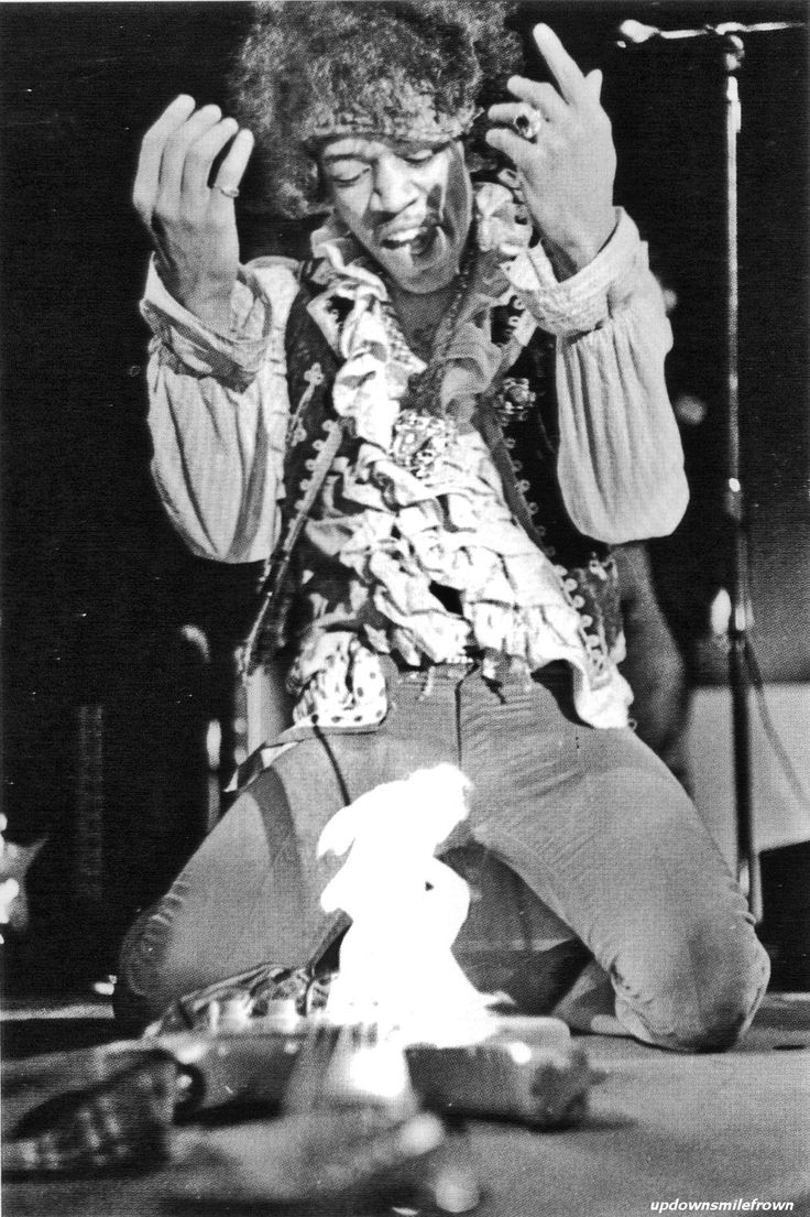 Monterey Pop Festival - 1967, Jimi Hendrix makes rock history by burning his guitar after his performance