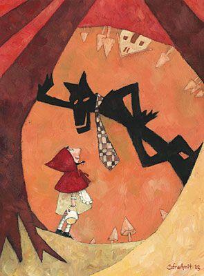 Little Red Riding Hood. illustration: Ofra Amit