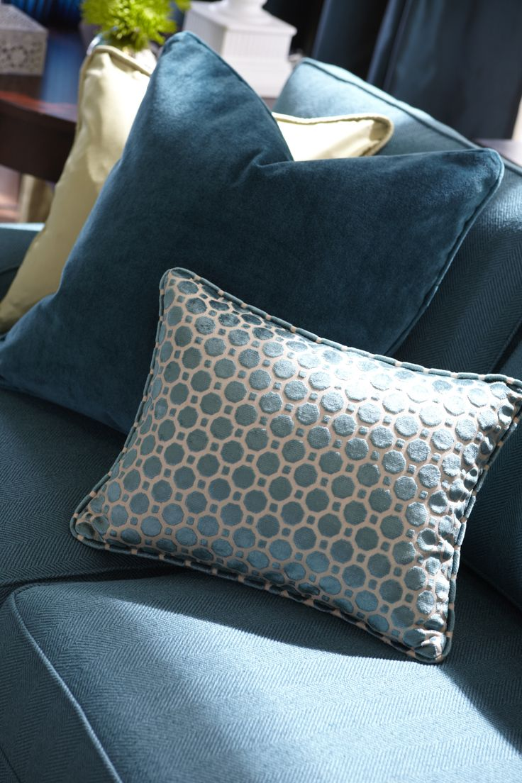 Patterned throw pillows are a great way to have a little fun!