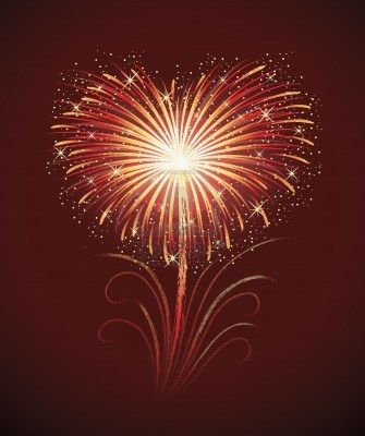 Firework in a shape of heart ................d