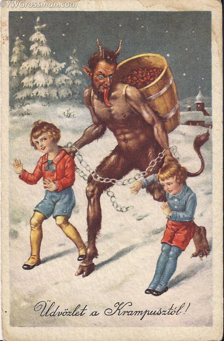 Vintage Krampus | marinni | Крампус и Рождество. Старинные ...