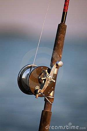 Vintage Fishing Rod And Reel Royalty Free Stock Image - Image: 14147076