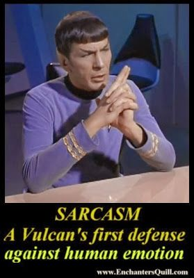Star Trek meme - Spock and and his sarcasm
