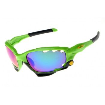 2013 new Oakley Jawbone green frame blue-pink Iridium-5308 | See more about oakley, frames and green.