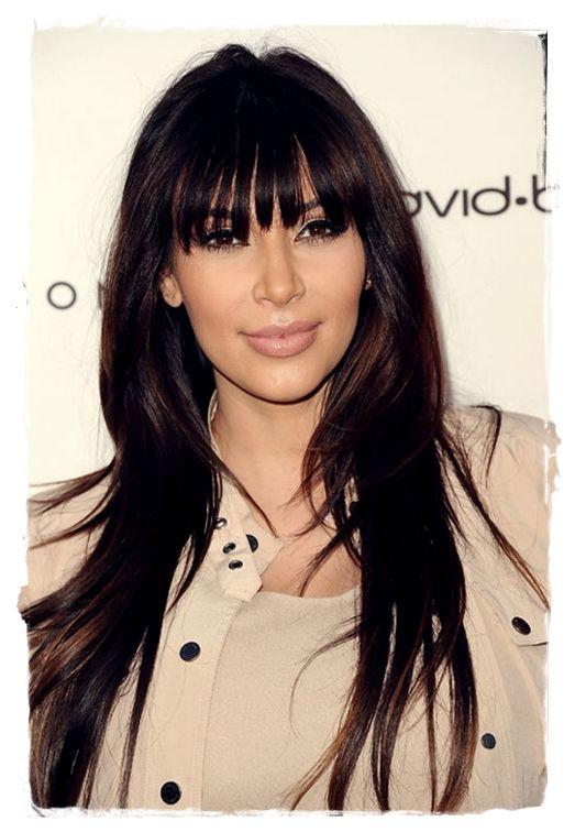 Celebrity Inspired #Hairstyles - Kim Kardashian's Full Bang