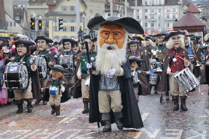 Fasnacht – Carnavalul din Lucerna, Elveția