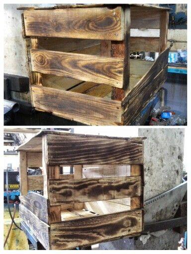 Guacal con efecto de madera quemado realisado con soplete - Muebles las quemadas ...