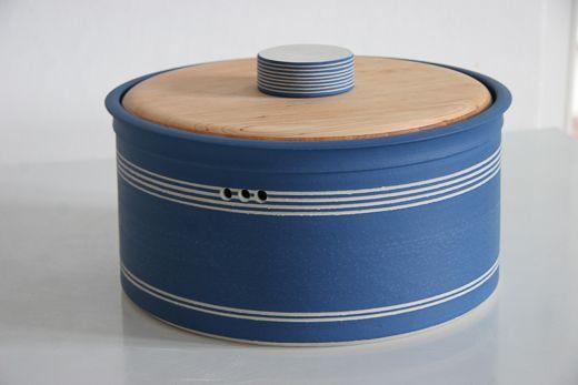 Brottopf mit Holzdeckel - Keramikwerkstatt Barbara Ehrengruber