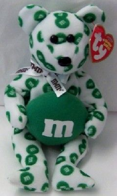 M'S Green Bear Ty Beanie Babies New With Tag $19.99