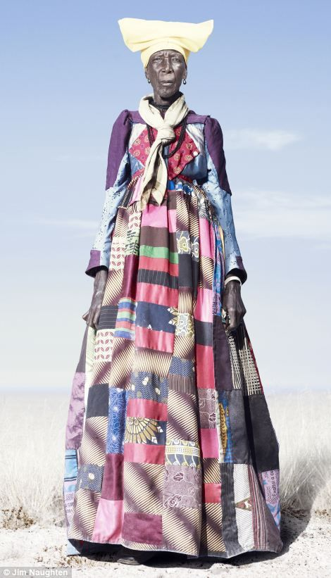 Herero woman in patchwork dress: