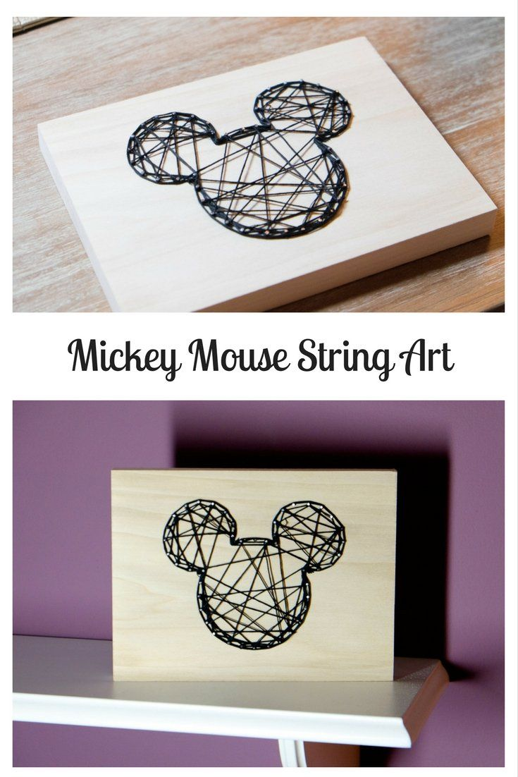 This Mickey Mouse String Art is a fun project to make for a Disney loving home!