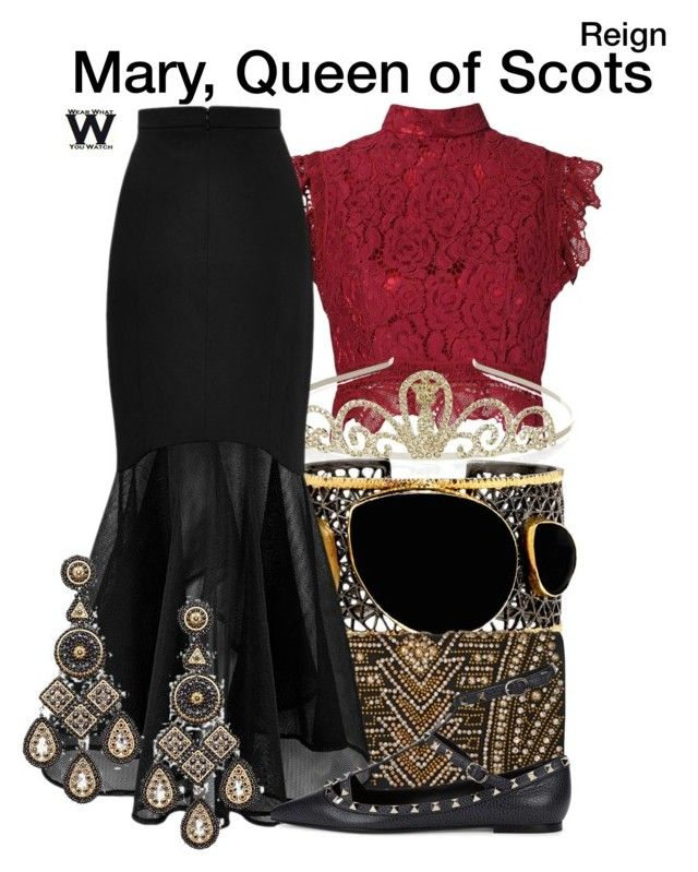Reign by wearwhatyouwatch on Polyvore featuring polyvore, fashion, style, Martha Medeiros, Valentino, Balmain, Mela Artisans, Miguel Ases, Monsoon, clothing, television and wearwhatyouwatch
