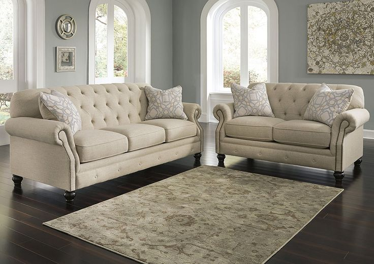 What�s wrong with living in the past? Kieran brings a traditional favorite�the diamond tufted back sofa�back in vogue in the most charming way. Subtle textured twill upholstery in the softest of hues is the essence of a simpler time and place.