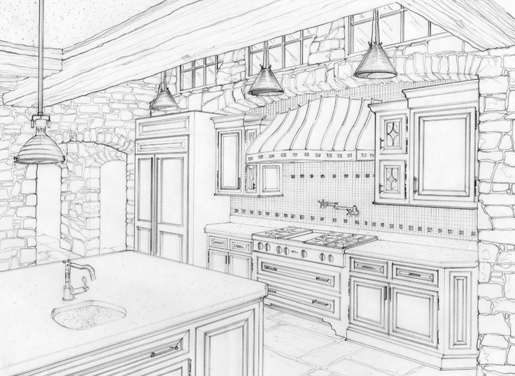 Jim O Brien Architect Melanie Sobash Interior Design Sketch