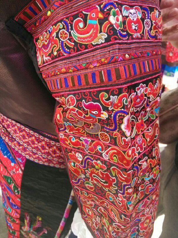 unique embroidery of miao nationality