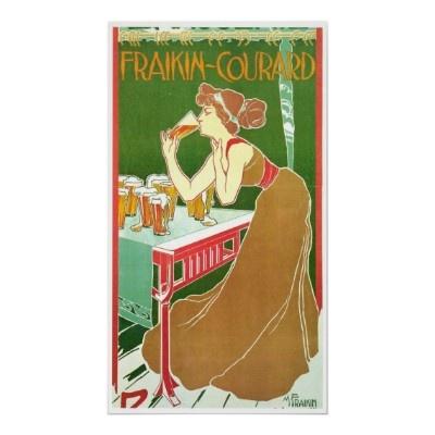 Brasserie Fraikin Courard 1900 ~ Vintage Ad Posters