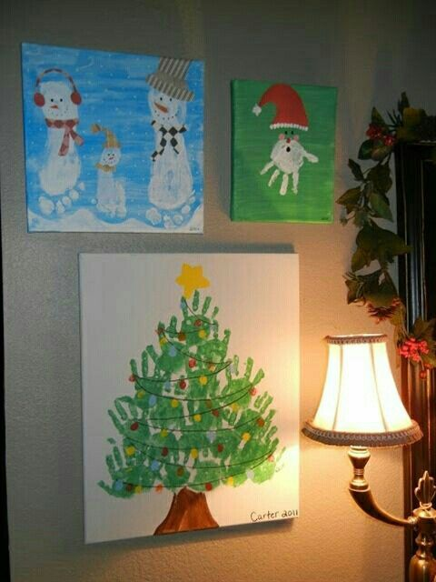 Handprint Christmas decorations