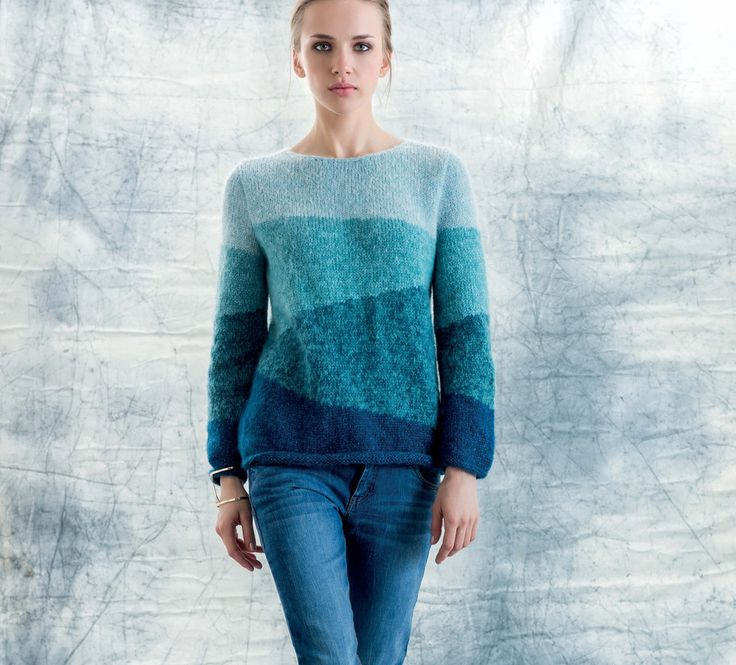 Modèle pull bleu Phil Light Femme - Modèles Gratuits Femme - Phildar