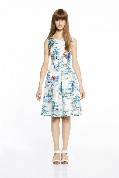 collette by Collette Dinnigan Prairie Piping Trim Dress