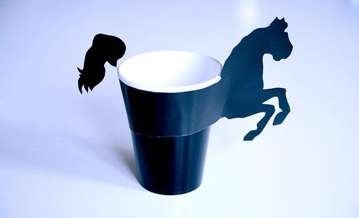 FREE printable horse mug holder
