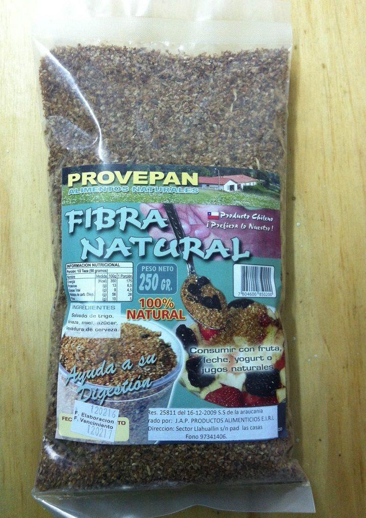 Fibra Natural 250 Gramos Yogurt Jugos Naturales Y Fibra