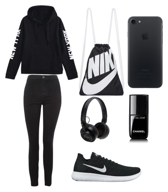 """""""Untitled #3"""" by darya-andreea ❤ liked on Polyvore featuring Topshop, NIKE, Chanel and Master & Dynamic"""