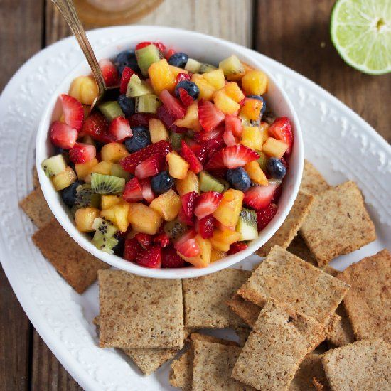 Honey Lime Fruit Salad with Homemade Paleo Cinnamon Sugar ...