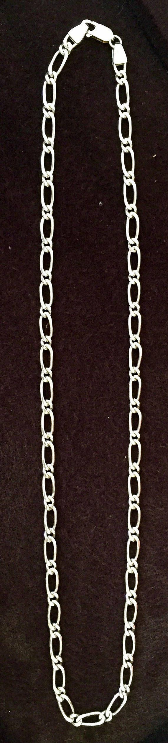 Solid Fine Silver Men's Chain Necklace Gift for Him