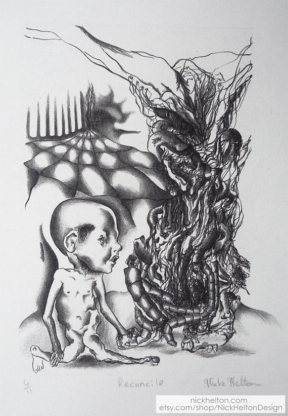 Surreal Baby Lithoraphic Print by Nick Helton Design  https://www.etsy.com/listing/218119023/surreal-baby-lithoraphic-print-by-nick?ref=listing-shop-header-3