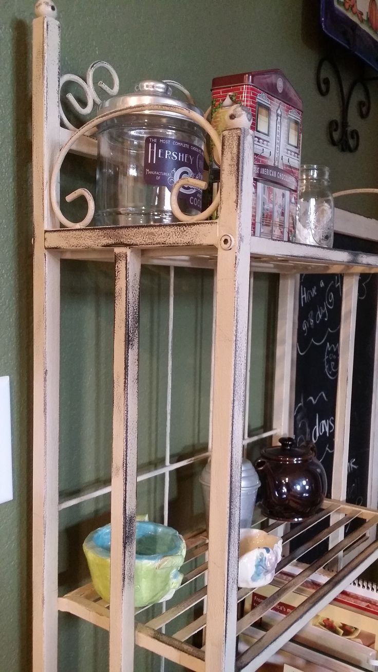 Painted Black Wrought Iron Baker S Rack With Annie Sloan