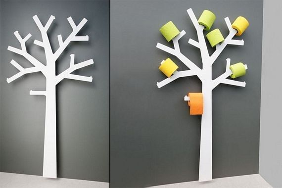 Solve your ugly toilet paper storage problem with this lovely tree holder. | 25 Absurd Bathroom Gadgets You Definitely Need In Your Life