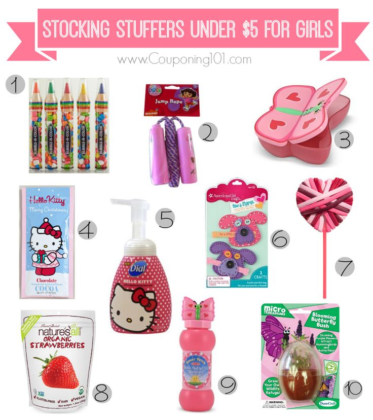 10 stocking stuffer ideas for girls for 5 or less gifts for kids christmas stocking. Black Bedroom Furniture Sets. Home Design Ideas