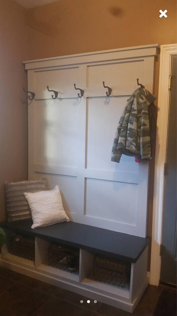 Custom Made To Order Hall Tree With Bench And Cubbies For Storage Each Unit Is Built And Painted By Hand Made To Mud Room Storage Rustic Hall Trees Hall Tree