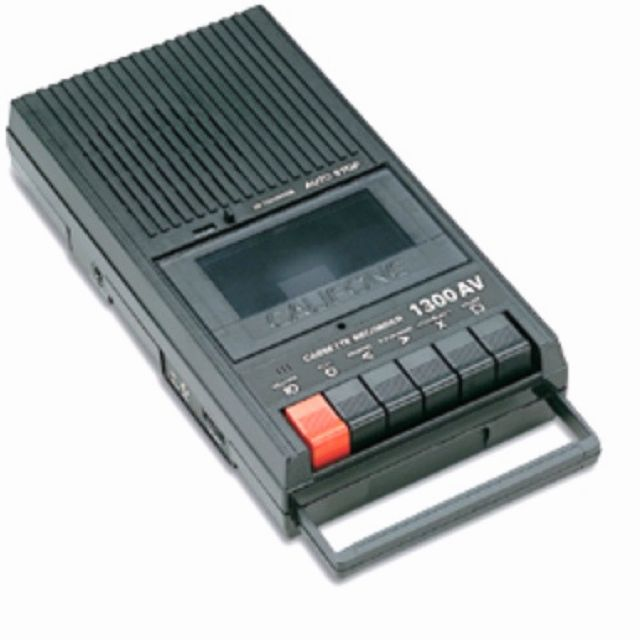 Cassette player. Who remembers these from growing up in the 70's?